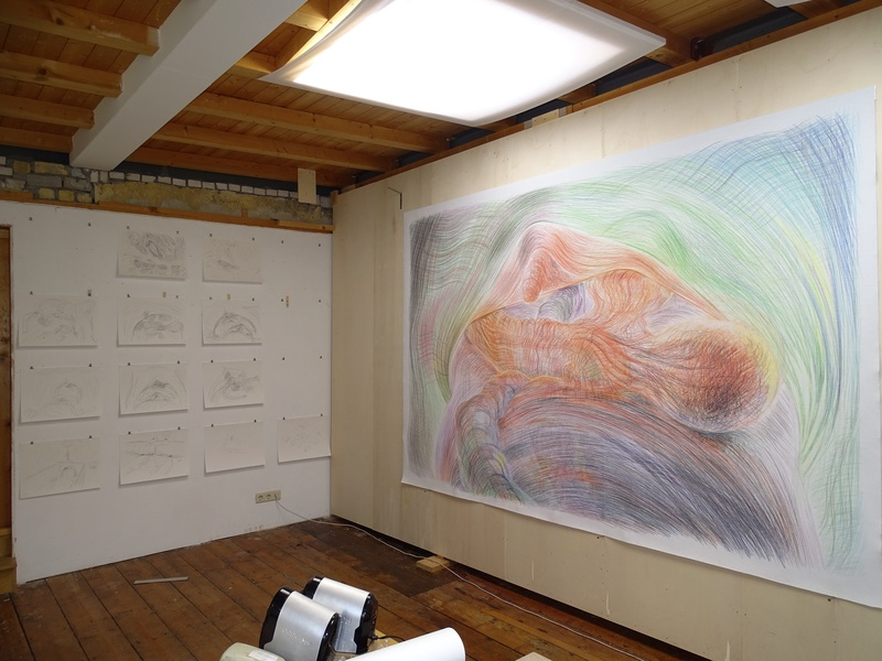 Overview studio Pieter Slagboom, June, 2020 - project Bridget Donahue in progress