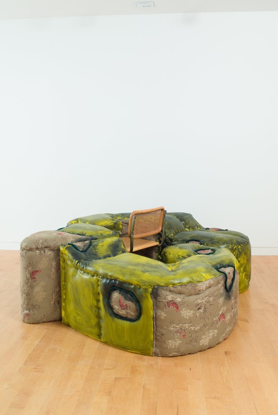 Jessi Reaves, Cock Ottoman with Parked Chair, 2018