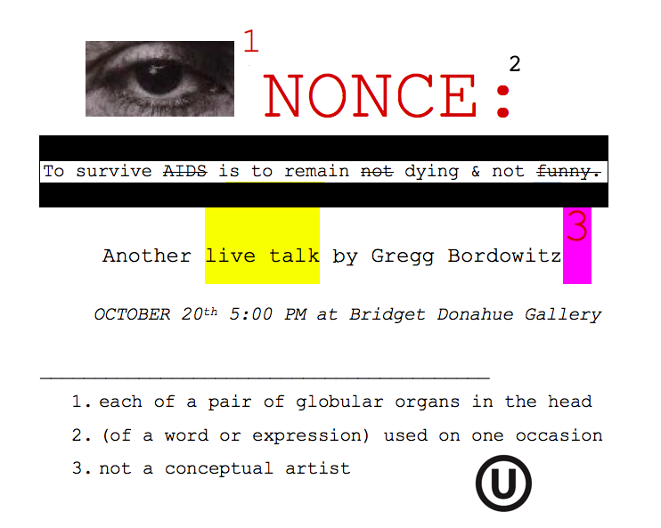 I, Nonce: Sunday, October 20th, 5PM